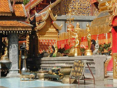 Chiang Mai Wat Doi Suthep courtyard