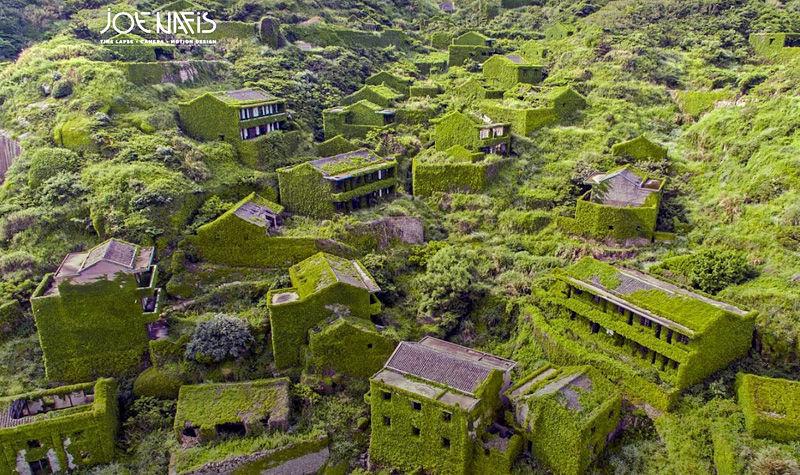 abandoned Houtouwan Village Joe Nafis aerial view