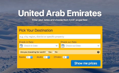 Pick a destination UAE