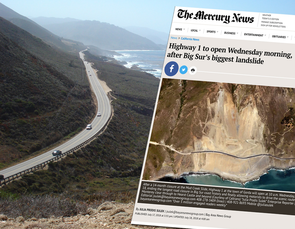 Californias Coastal Highway reopens Gorda