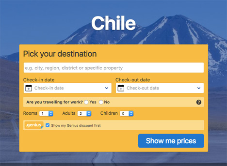 chile booking com