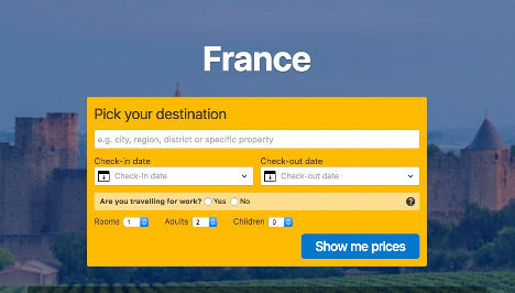 France pick your destination here