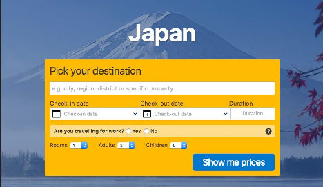 Japan | Book a hotel here.