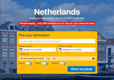 netherlands booking com