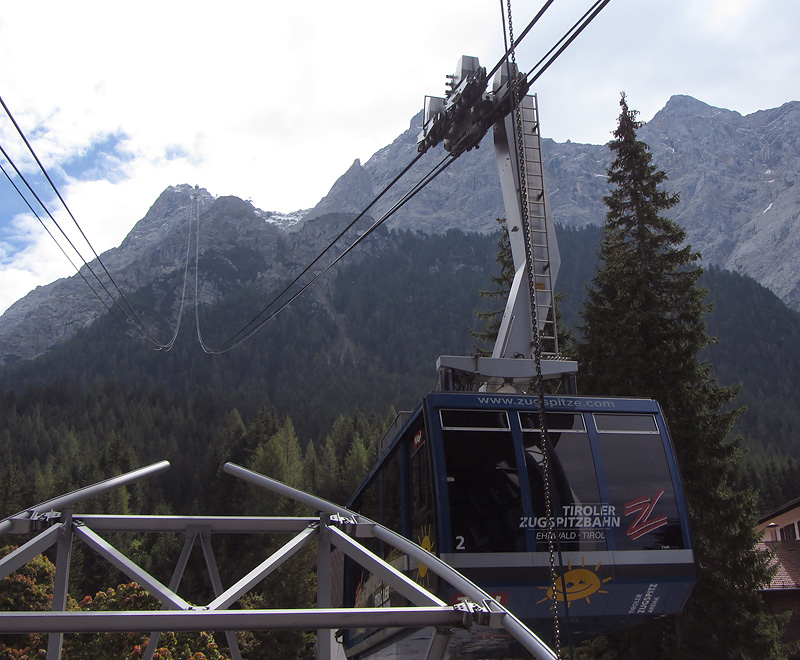 Tyrolean Zugspitze Cable Car. Only going to the very top since 1991.