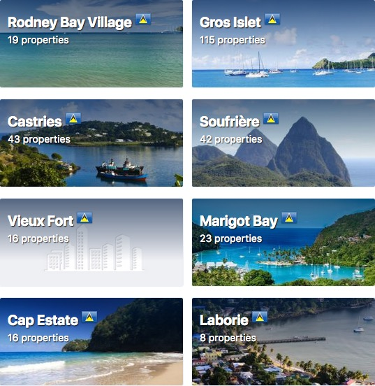 Top 10 Islands World St Lucia map