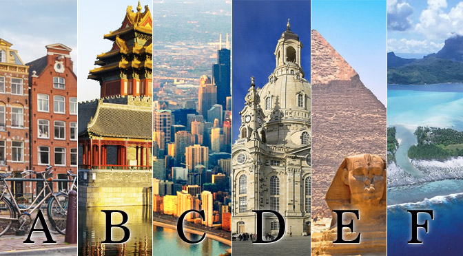 Travel world 100 per day travel alphabet