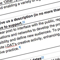 i-DAT Project Curator [Outreach]- Arts Council England Grants for the Arts.