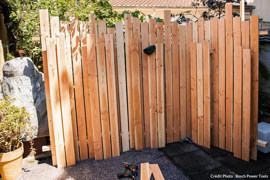 fabriquer un brise vue en bois diy en