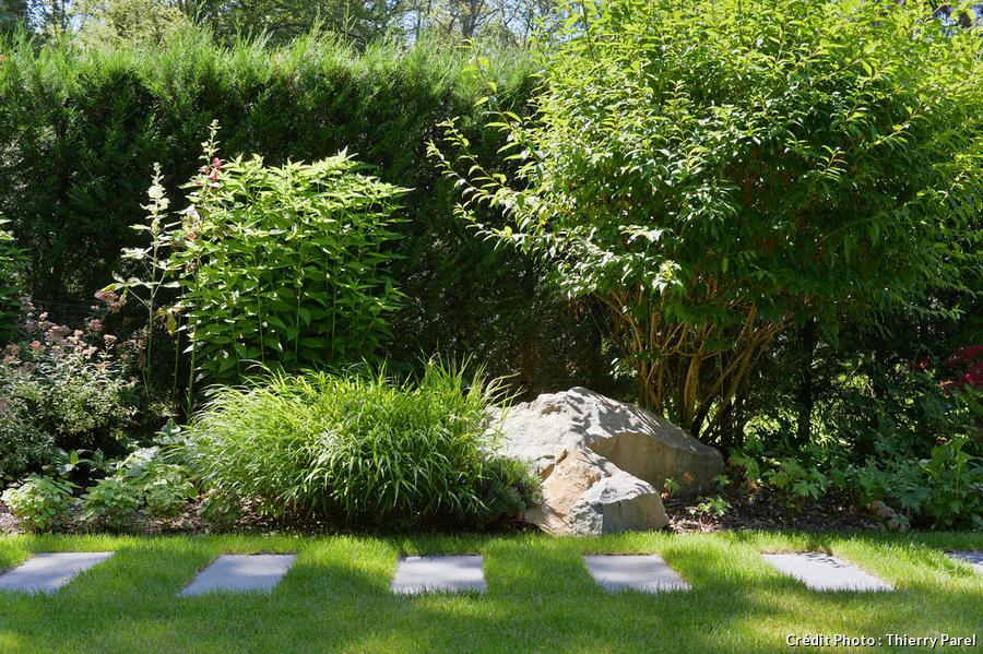 un jardin tout en longueur