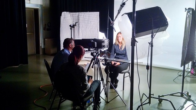 Filming The Whiteness Project in Buffalo, New York. Credit: Whitney Dow.