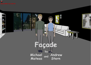 Façade, an interactive AI-based story on CD-Rom (2006)