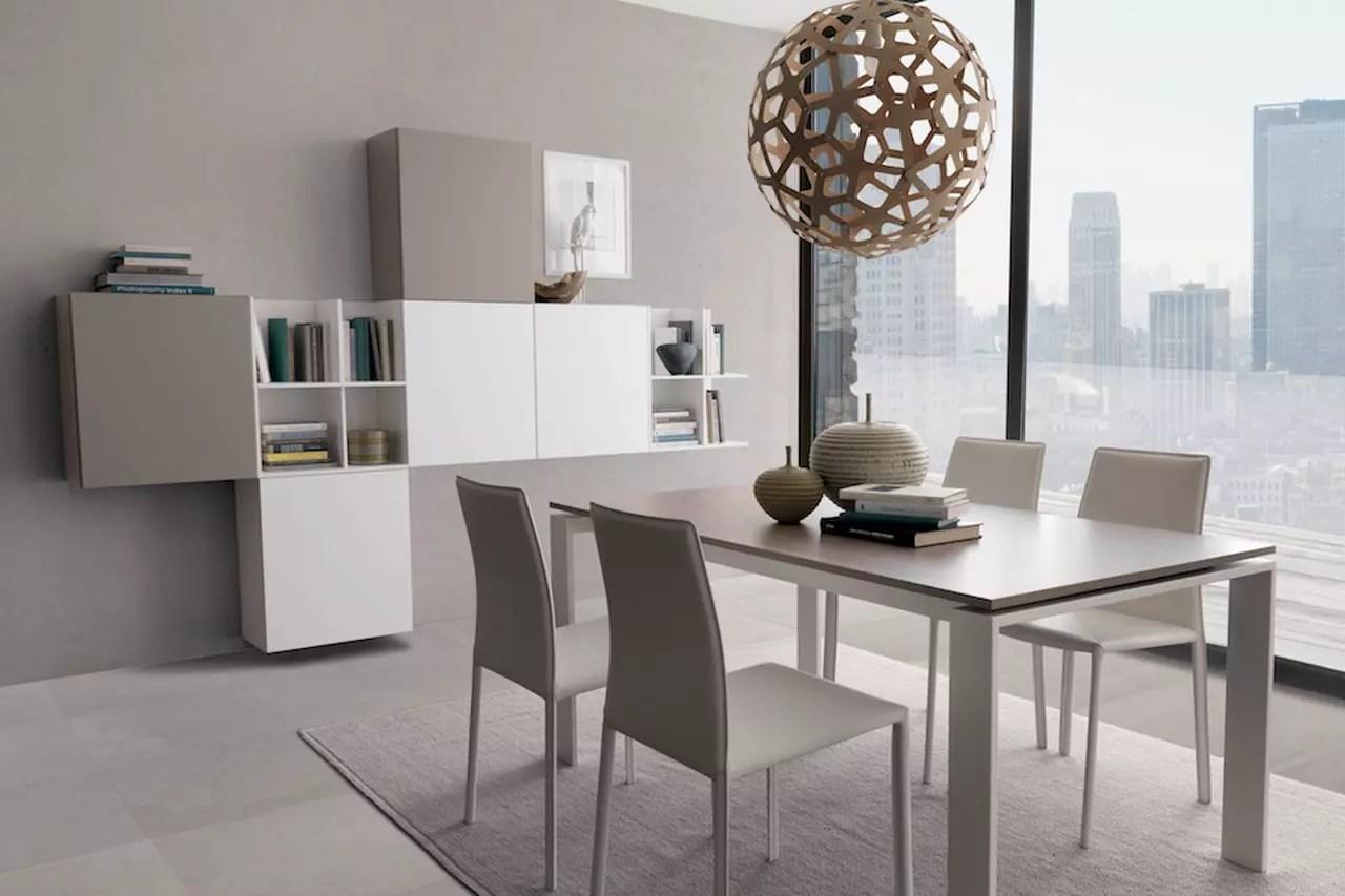 Pareti attrezzate moderne soluzioni per il soggiorno e