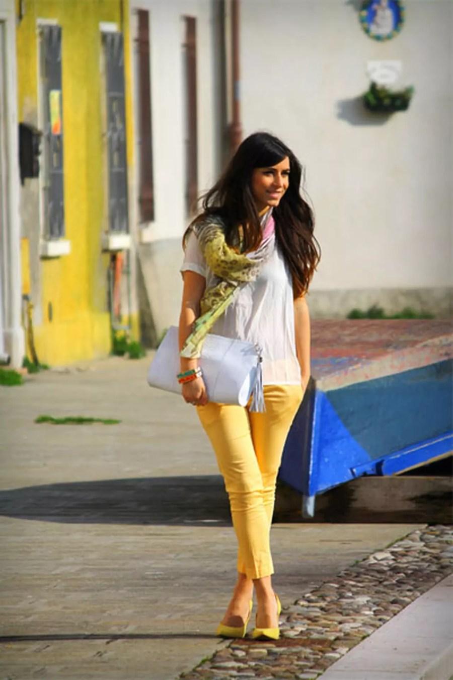كيف ترتدين اللون الأصفر بدرجاته لطلة نابضة بالحيوية