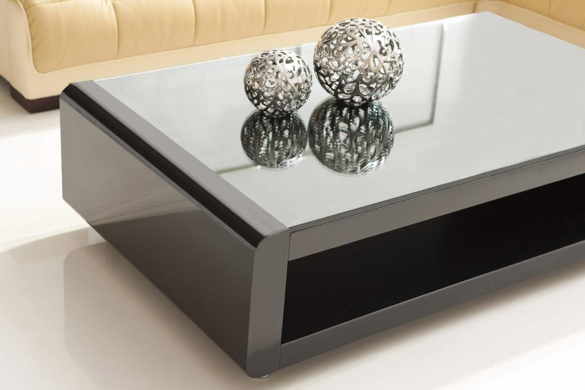DESIGNER COUCHTISCH Wohnzimmertisch Wohnzimmer Tisch Larentia SCHWARZ LR0B NEU  eBay