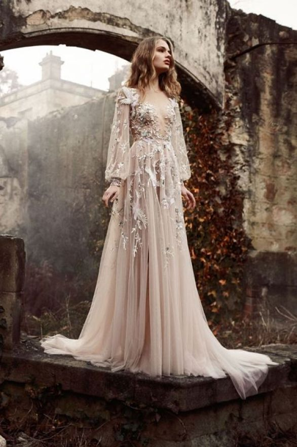 I feel as if this fits our romance theme. It's taking a beaten down, dark, foggy place, and adding beauty to it with this woman in a long beautiful dress.