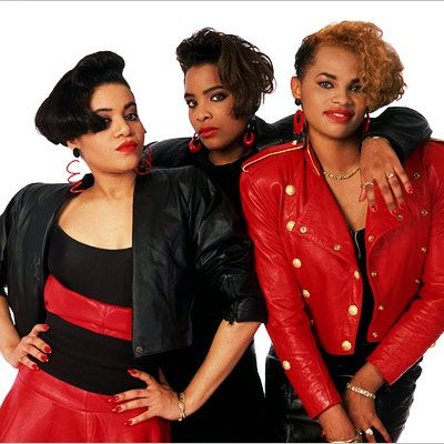 "Salt N Pepa with Spinderella. ""Salt n Pepper's here - And we're in effect - Want you to push it, babe - Coolin' by day then at night working up a sweat..."""
