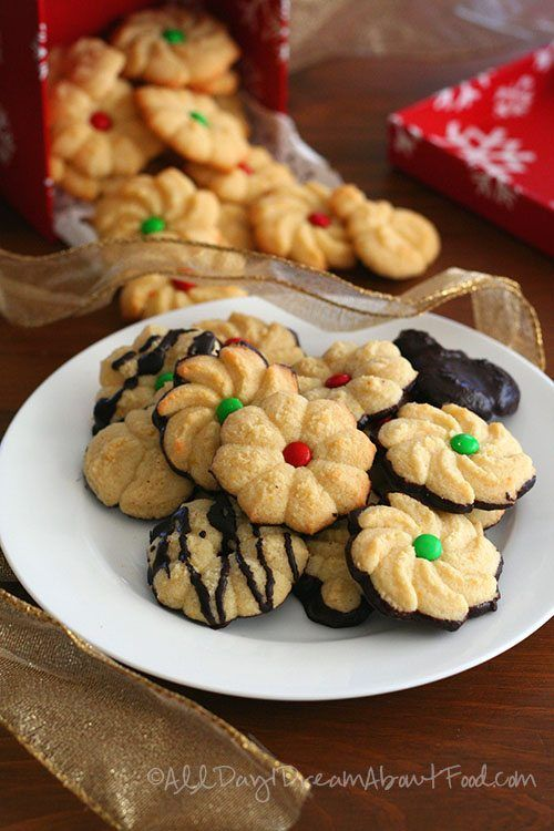 Low Carb Chocolate Dipped Spritz Cookie Recipe