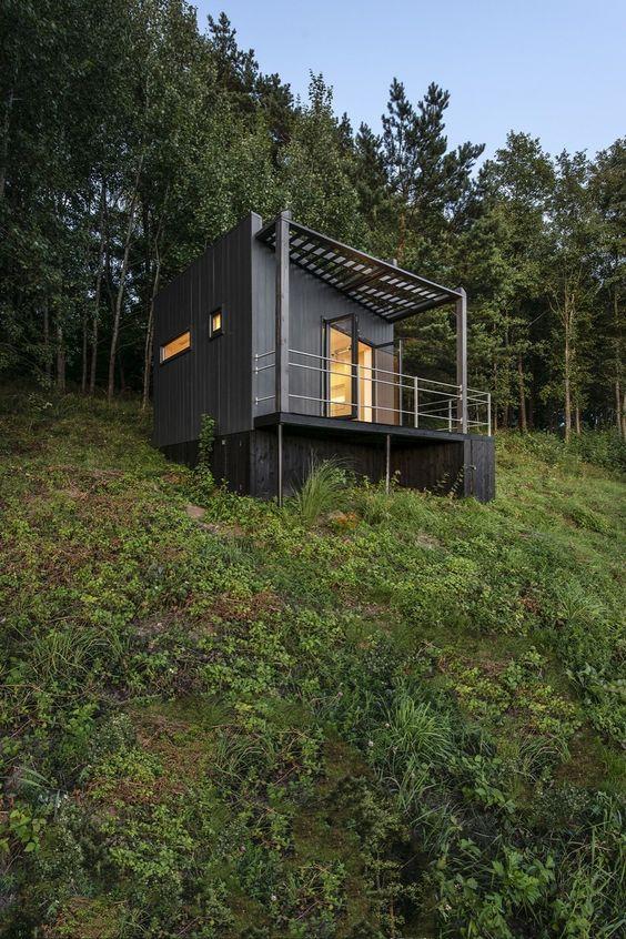 89772fa1bfad535fd8c74241e4ec9553 - 21 Perfect Tiny Cabins For Living Outdoors