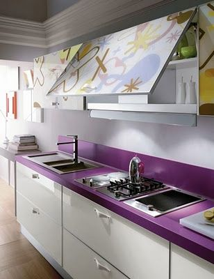 BAIRES Deco & Design ... Diseño de Interiores, Arquitectura y Decoración en un solo Sitio!: Cocinas Súper coloridas!