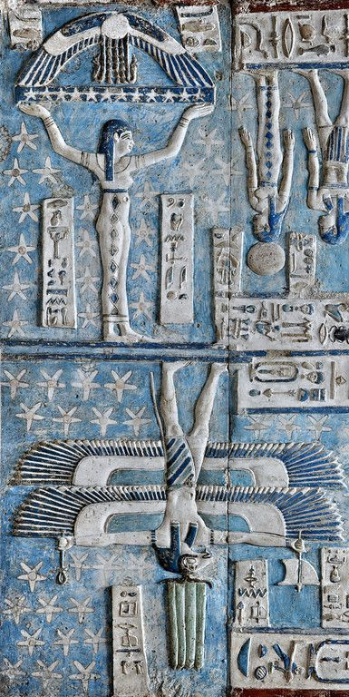 "Relics, Sculpture, Motifs for the Home :     'Goddess Nut…""Nuit"" supporting the sky at Dendera.'    -Read More –"
