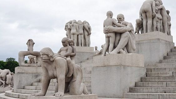"""This park is open all the time, there is no entrance fee and just amazing in #Oslo! More than 200 sculptures which represent the different phrases, stages of life."" #Norway  #RouteWhisperer 📍 Vigeland Park"