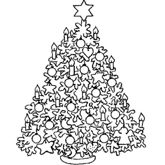 Christbaum - Weihnachtsbaum zeichnen & malen Malvorlagen