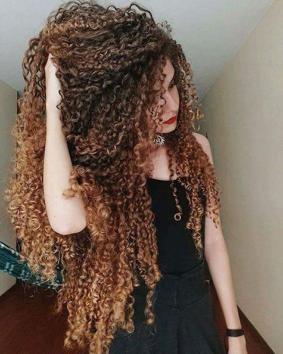 Cachos, cabelos longos, cachos longos