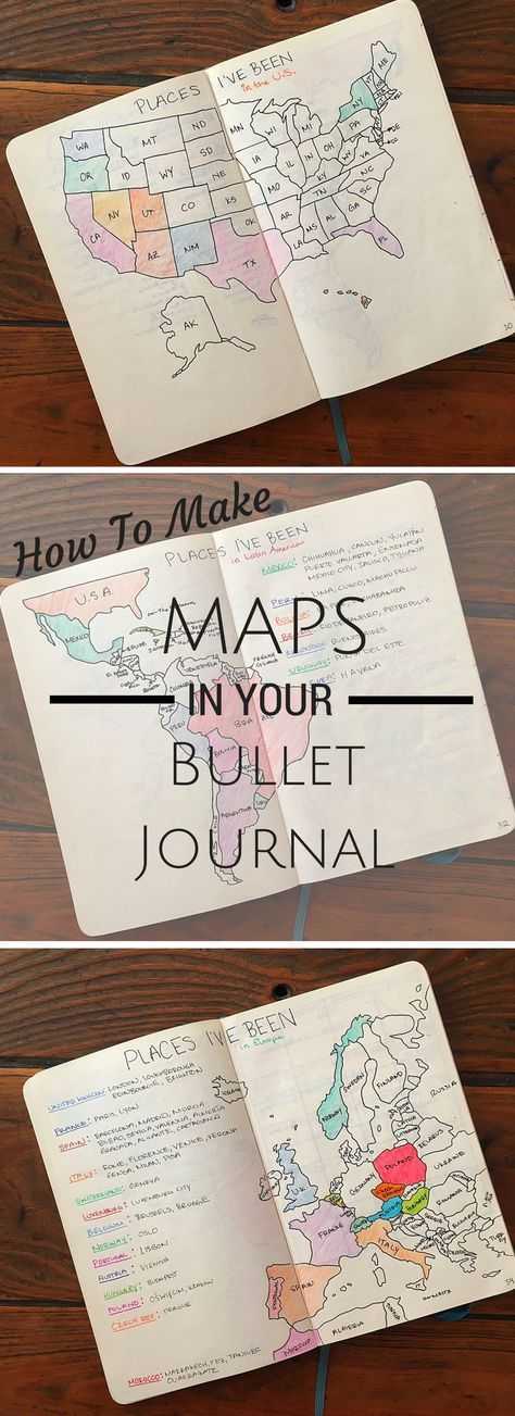 Map Tracker Bullet Journal Inspiration