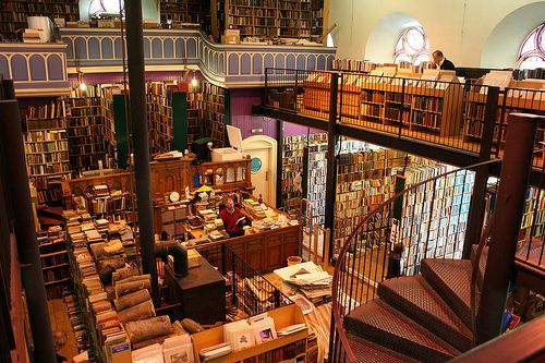 Leakey's Bookshop  The largest second hand bookshop in Scotland.