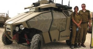 The Guardium UGV developed by G-Nius is used by the IDF to patrol part of the hot Gaza border.