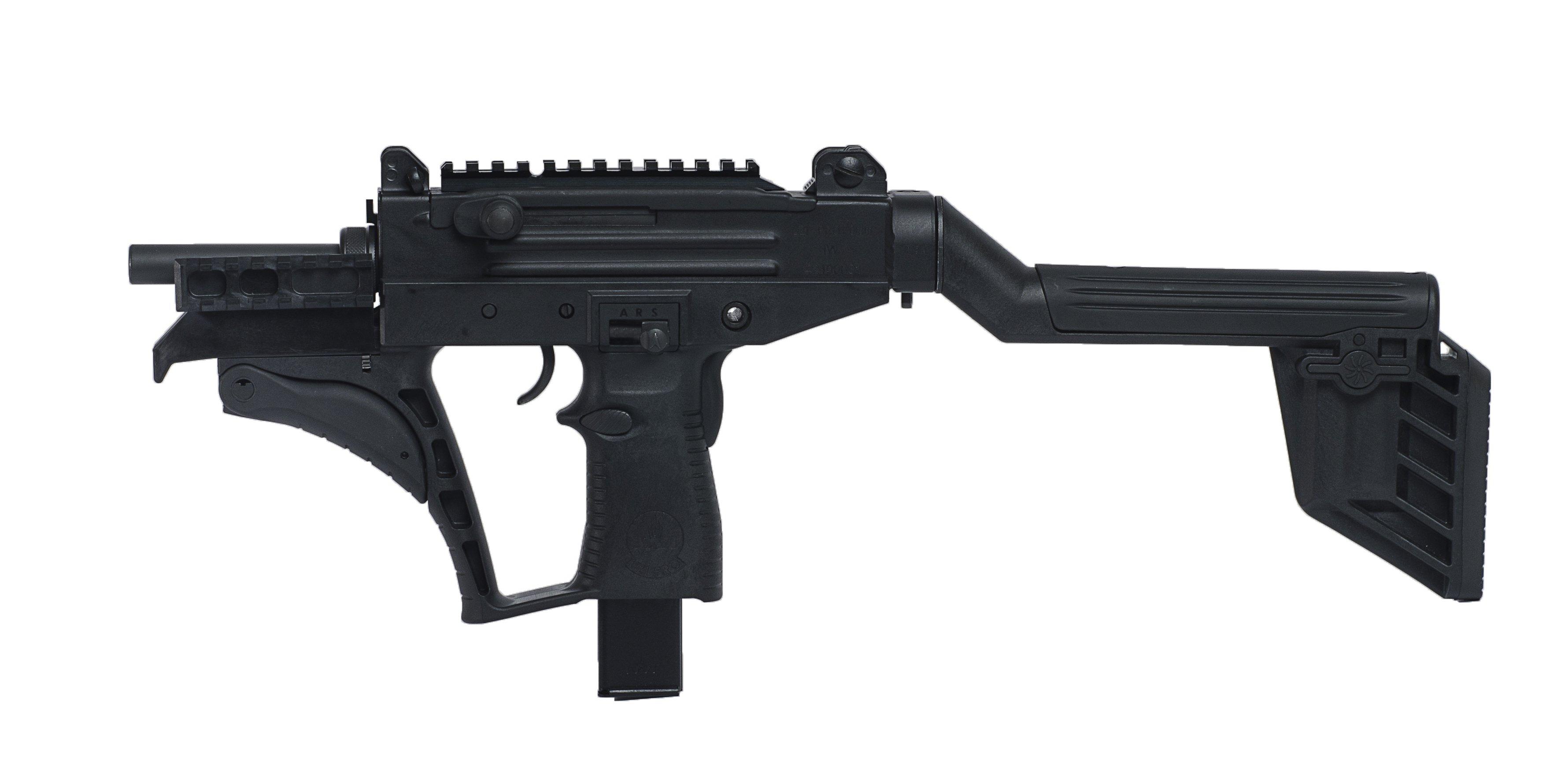 i-HLS Israel Homeland Security Shoots like a rifle. Works like an UZI