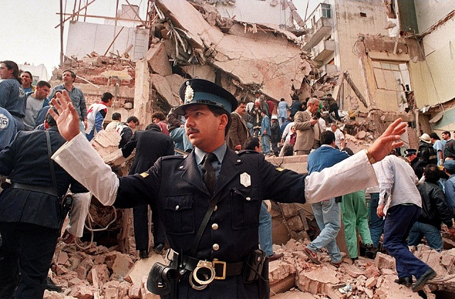 Scene of the 1994 terrorist attack against AMIA.