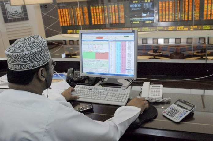 © Reuters. United Arab Emirates stocks lower at close of trade; DFM General down 1.05%