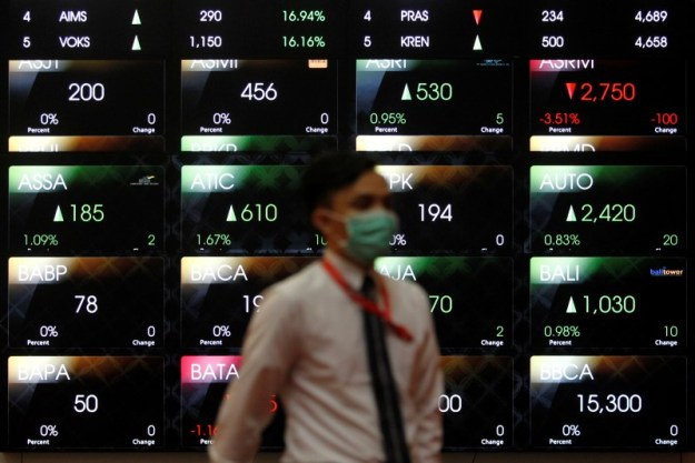 © Reuters. Indonesia stocks higher at close of trade; IDX Composite Index up 0.25%