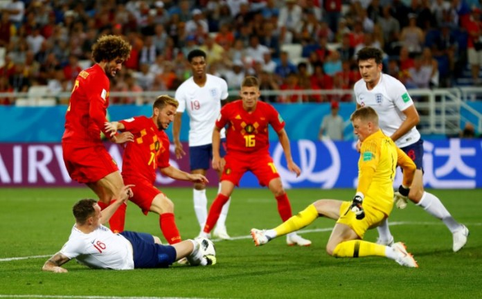 © Reuters. FILE PHOTO: World Cup - Group G - England vs Belgium