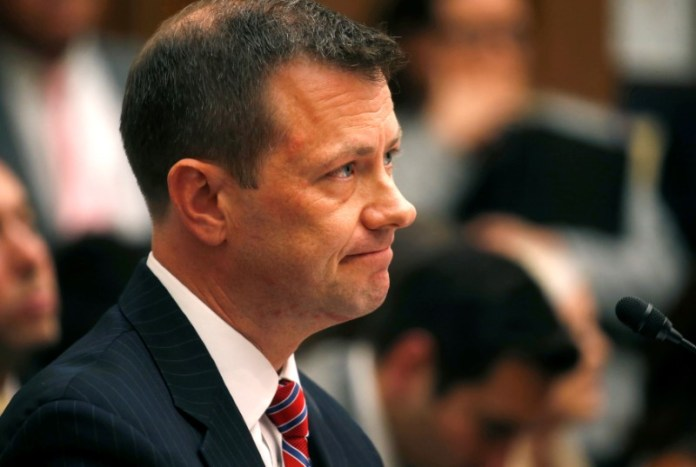 © Reuters. FBI Deputy Assistant Director Strzok testifies before joint House oversight hearing on Capitol Hill in Washington