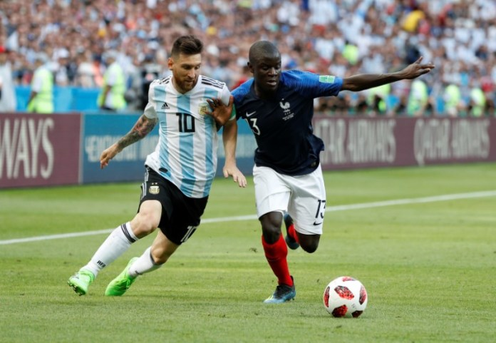 © Reuters. World Cup - Round of 16 - France vs Argentina