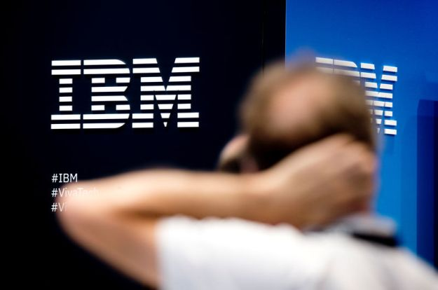 © Reuters. The IBM logo is pictured during the Viva Tech start-up and technology summit in Paris