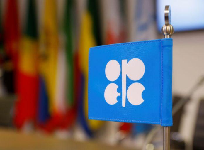 © Reuters. Logotipo de la OPEP en la sede de la organización en Viena.