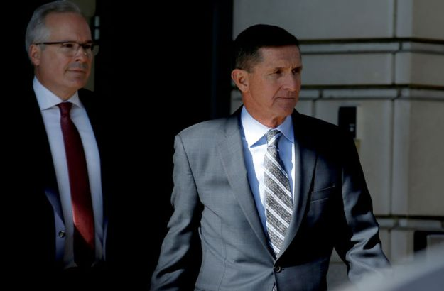 © Reuters. FILE PHOTO: Former U.S. National Security Adviser Michael Flynn departs after a plea hearing at U.S. District Court, in Washington