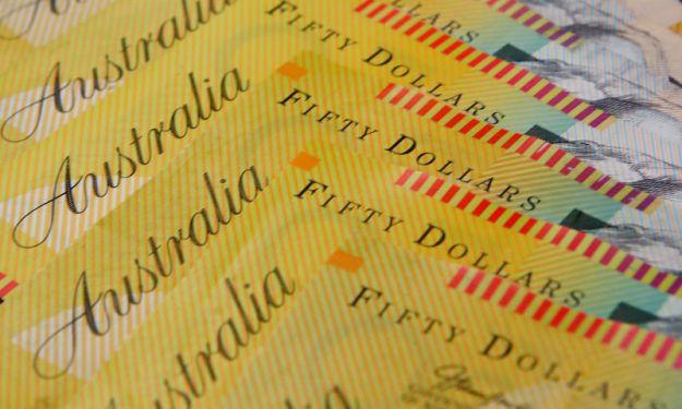 © Reuters. Illustration photo of Australian dollars