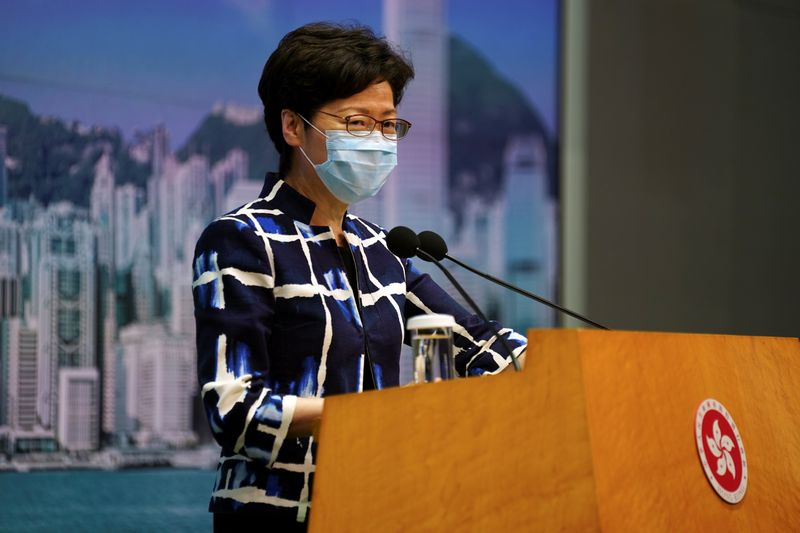 © Reuters. Hong Kong's Chief Executive Carrie Lam holds a news conference in Hong Kong