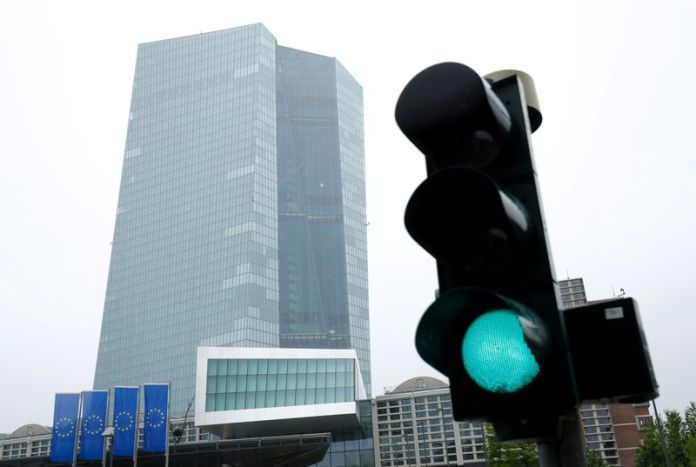 © Reuters. FILE PHOTO: ECB headquarters in Frankfurt