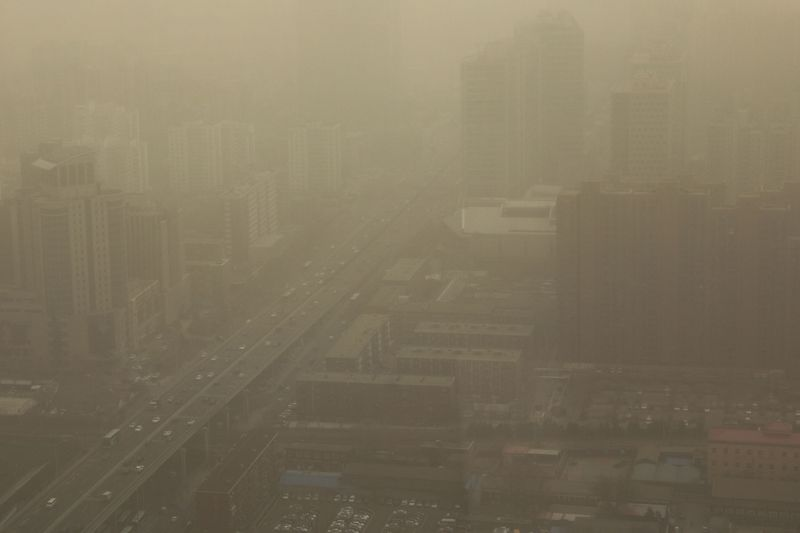 Beijing enveloped in hazardous sandstorm, second time in two weeks