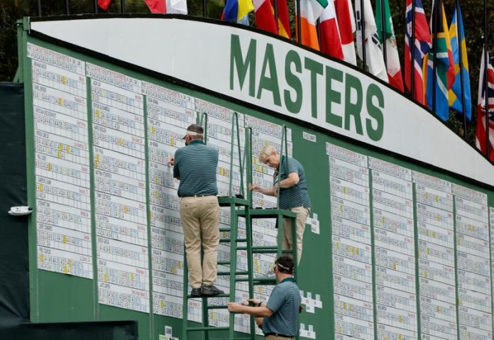 Golf-Japan's Matsuyama in control of Masters, leads by four shots