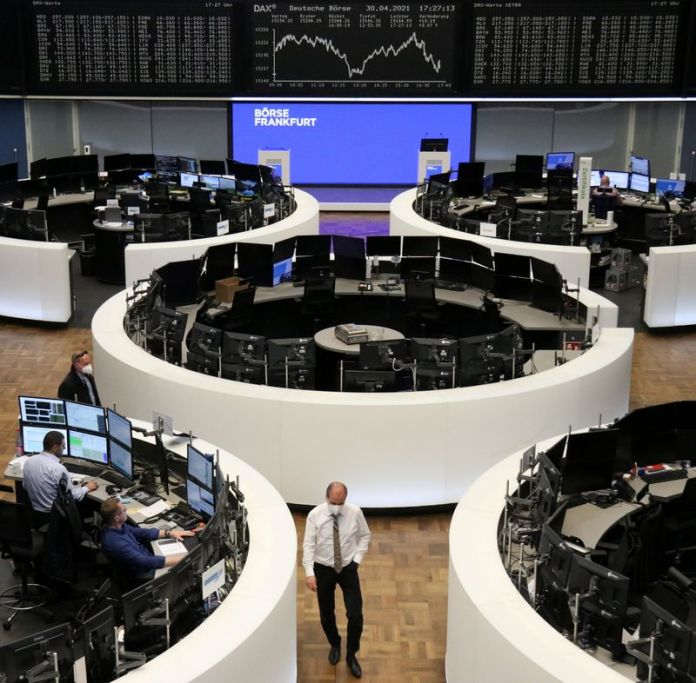 European stocks index post a third month of gains supported by strong earnings and recovery hopes