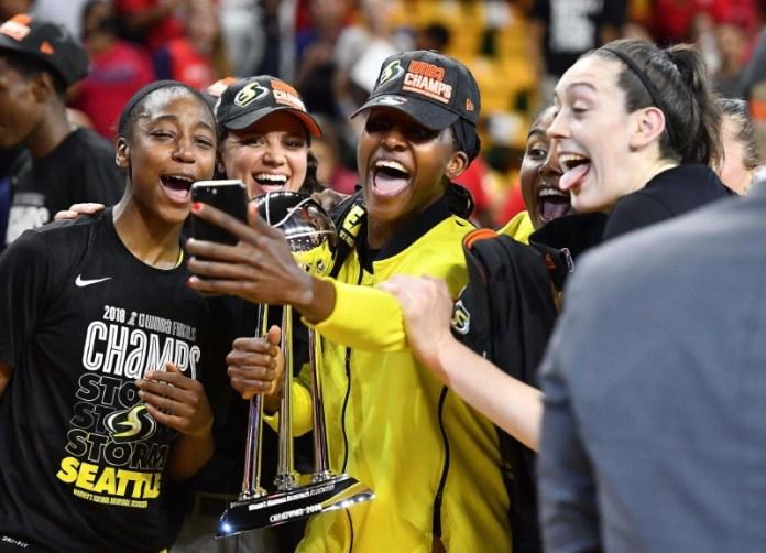 © Reuters. WNBA: Finals-Seattle Storm at Washington Mystics