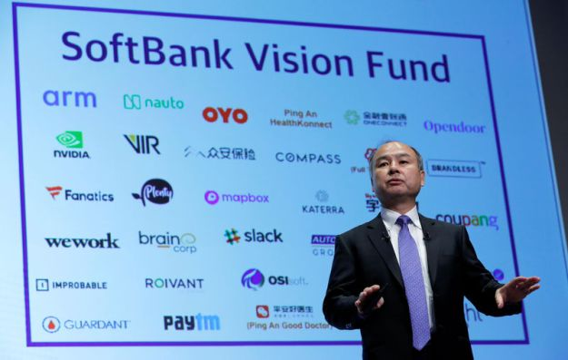 © Reuters. FILE PHOTO: Japan's SoftBank Group Corp Chief Executive Masayoshi Son attends a news conference in Tokyo