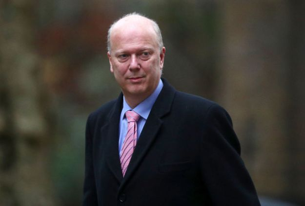 © Reuters. Britain's Secretary of State for Transport Chris Grayling arrives in Downing Street, London